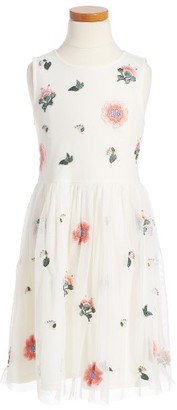 Toddler Girl's Ruby & Bloom Embroidered Sleeveless Dress $55 thestylecure.com