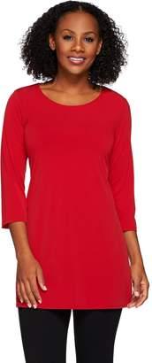 Susan Graver Essentials Liquid Knit 3/4 Sleeve Tunic