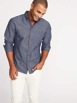 Old Navy Slim-Fit Linen-Blend Chambray Shirt for Men