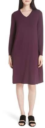 Eileen Fisher V-Neck Knee Length Shift Dress