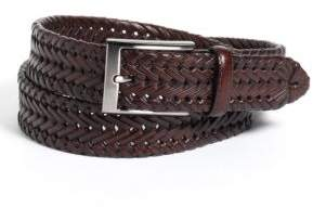 Black & Brown Black Brown Woven Leather Belt