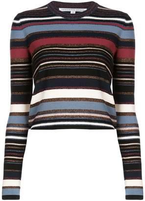 Veronica Beard striped crew neck jersey