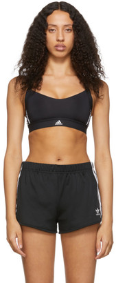 adidas Black All Me 3-Stripes Sports Bra