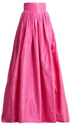Carolina Herrera High Rise Silk Taffeta Ball Gown Skirt - Womens - Pink