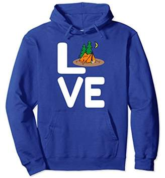"""""""Love"""" Tent Camping with Tent Campsite Design Hoodie"""