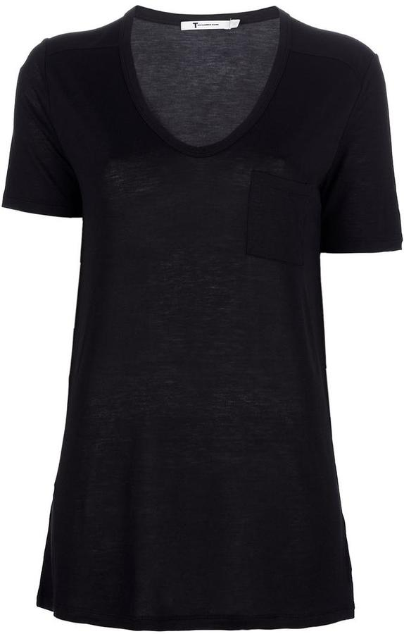 T By Alexander Wang scoop neck T-shirt