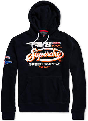 Superdry Men's V8 Logo Graphic Moto Hoodie