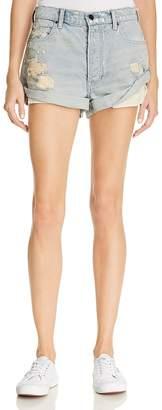 Alexander Wang Hike Cuffed Denim Shorts in Vintage Bleach