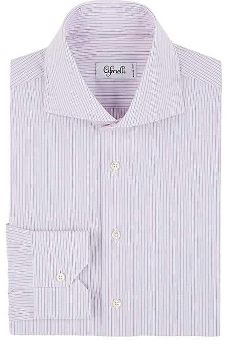 Cifonelli Men's Striped Cotton Poplin Shirt