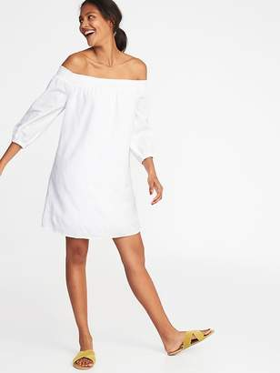 Old Navy Off-the-Shoulder Smocked Shift Dress for Women