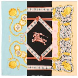Burberry Archive printed silk scarf