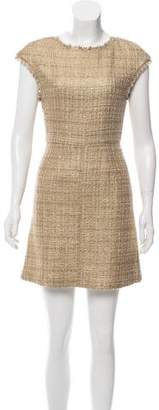 Alice + Olivia Wool-Blend Tweed Dress