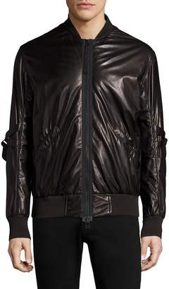 Helmut Lang Men's Stand Collar Leather Bomber