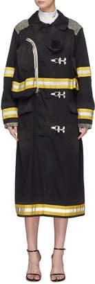 Calvin Klein 'Firefighter' detachable logo patch stripe twill coat
