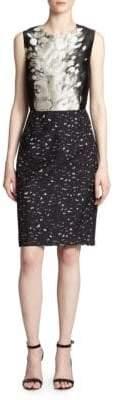 Giambattista Valli Abstract-Leopard Jacquard Dress