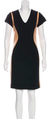 Diane von Furstenberg Dayton Leather-Accented Dress