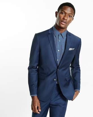Express Slim Navy Performance Stretch Wool-Blend Suit Jacket