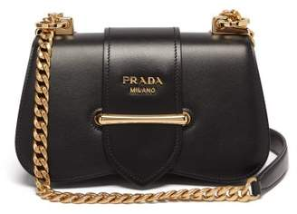 Prada Sidonie Leather Cross Body Bag - Womens - Black