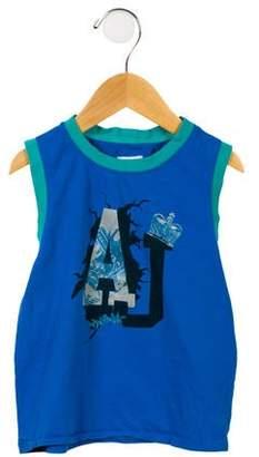 Armani Junior Boys' Sleeveless Graphic Shirt
