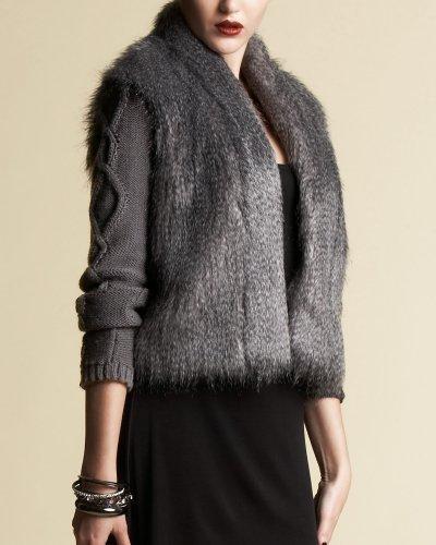Faux Fur Sweater Jacket - bebe Addiction