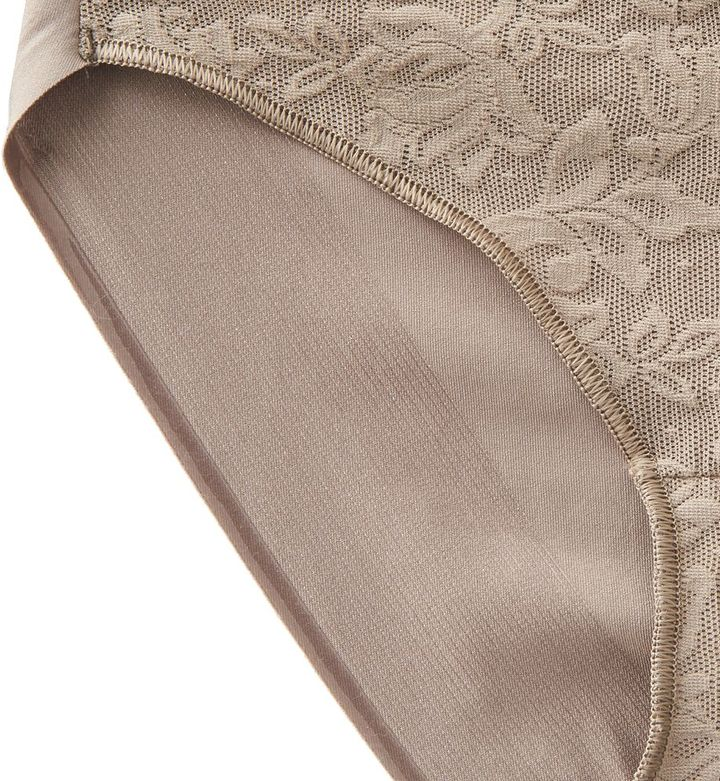 Naomi & Nicole lace-front high-cut panty a1054 - women's