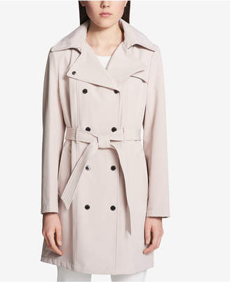 Calvin Klein Hooded Double-Breasted Trench Coat