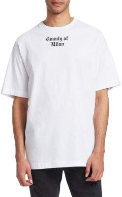 Marcelo Burlon County of Milan Flags Cotton Tee