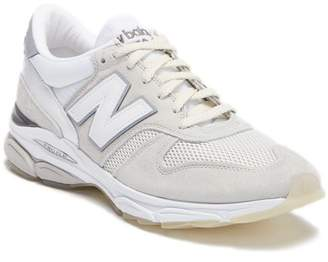 New Balance Contrast Suede Athletic Sneaker