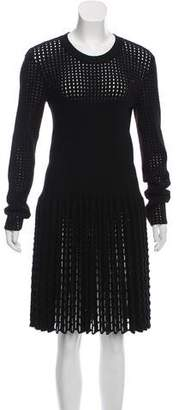 Alaia Long Sleeve Fit & Flare Dress