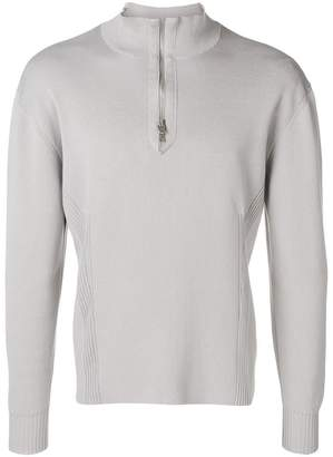 MACKINTOSH 0004 Off White Cotton 0004 Zip-Neck Sweater