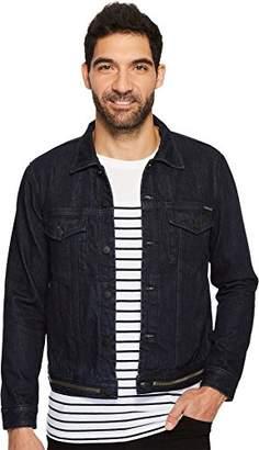 Calvin Klein Jeans Men's Waistband Zip Denim Trucker Jacket
