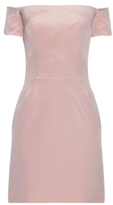 Raey Off The Shoulder Silk Dress - Womens - Pink