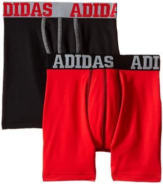 adidas Kids Sport Performance Climalite 2-Pack Boxer Brief Boy's Underwear