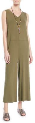Eileen Fisher Wide-Leg Viscose Jersey Jumpsuit