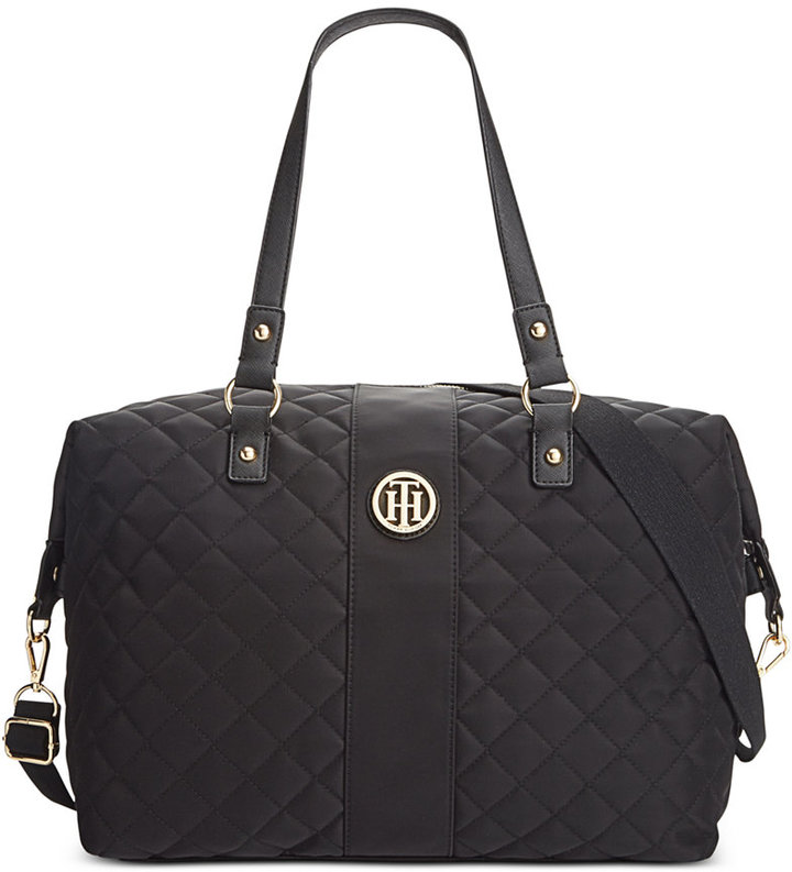 Tommy Hilfiger Quilted Nylon Isla Weekender