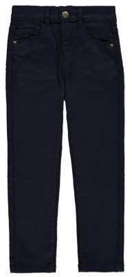 George Navy Skinny Stretch Chino Trousers