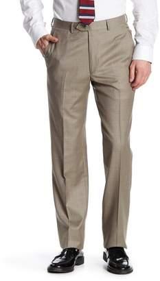 Santorelli Flat Front Wool Trouser $195 thestylecure.com