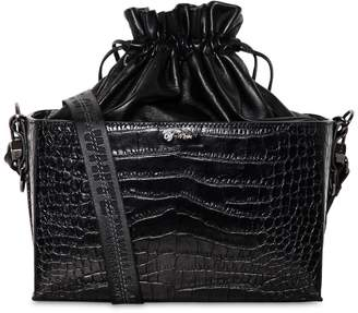 Off-White Croco Printed Leather Soft Boxy Bag