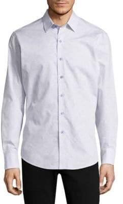 Robert Graham Embroidered Cotton Casual Button-Down Shirt