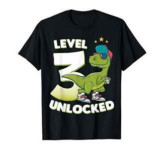 3rd Birthday T Shirt Dinosaur Rex 3 Years Old Boys Gift