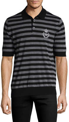 Dolce & Gabbana Stripe Wool Polo