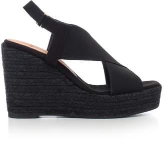 Castaner Elasticated Strap Wedge Sandals