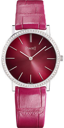 Piaget G0A42100 Altiplano 18K white gold and diamond self-winding alligator strap watch