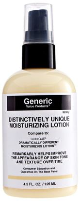 Generic Value Products Distinctively Unique Moisturizing Lotion Compare to Clinique Dramatically Different Moisturizing Lotion $9.99 thestylecure.com