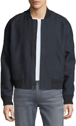 Joe's Jeans Men's Raglan Twill Zip-Front Bomber Jacket