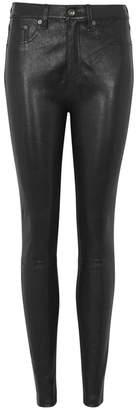 Rag & Bone Black Leather Skinny Jeans