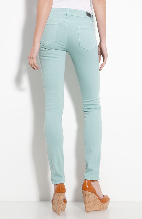 Paige Denim 'Verdugo' Stretch Denim Leggings (Mint Wash)