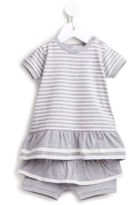 Moncler striped tiered shorties