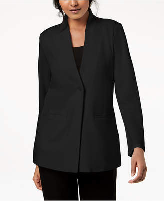 Eileen Fisher Tencel Ponte Long-Sleeve Stand-Collar Blazer, Regular & Petite