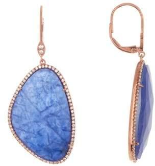 Meira T 14K Rose Gold Sodolite & Diamond Earrings - 0.59 ctw